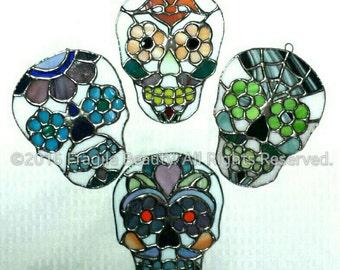 Sugar Skulls - Stained glass suncatchers