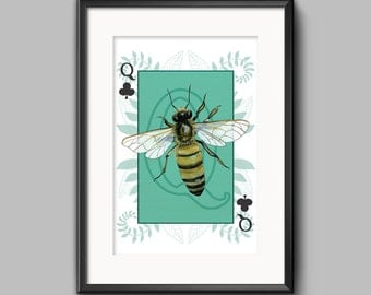 Queen Bee Print Wall Art
