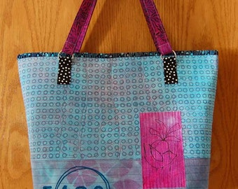 Mixed Media Quilted Handbag