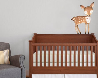 Woodland Themed Cute Deer Vinyl Wall Decal - Varying Sizes Available