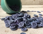 Vintage Chunky Buttons in Shades of Lavender Lot of 25