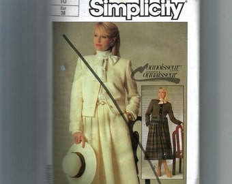 Simplicity Misses'  Pleated Skirt and Lined Jacket Pattern 6980