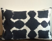READY TO SHIP Hand Dyed Linen Pillow in Black Opal , Anna Joyce,