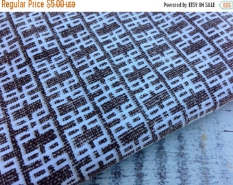 40% FLASH SALE- Modern Brown Fabric-Reclaimed Bed Linens-Mod Retro