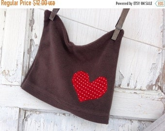 40% OFF FLASH SALE- Valentines Day Hat-Upcycled Clothing-Fleece-Infant