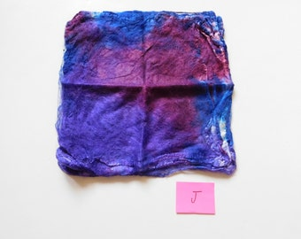 Handpainted silk hankies .60 ounce (17 grams)