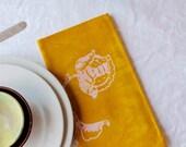 saffron peony napkins. made to order