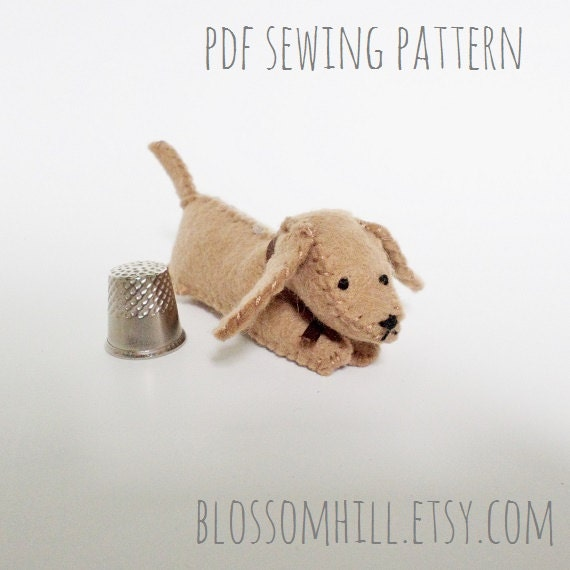 RESERVED - Miniature Dachshund sewing pattern and tutorial - PDF Instant download