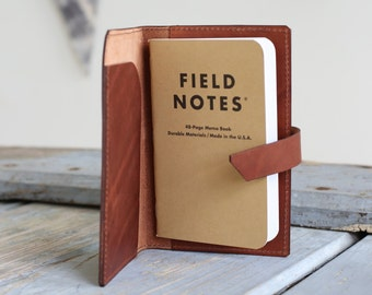 Refillable Leather Notebook Cover / Leather Moleskine Cover / Leather Field Notes Cover / Refillable Leather Journal / Leather Portfolio