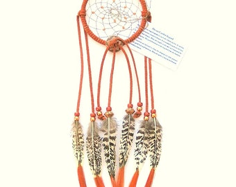 Rust Dream Catcher, Lady Amherst Pheasant Tails