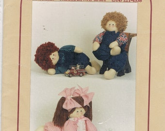 Playful Posables Fabric Dolls Sewing Pattern
