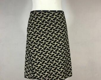 Snap Around Skirt, Black Weave Classic by Erin MacLeod