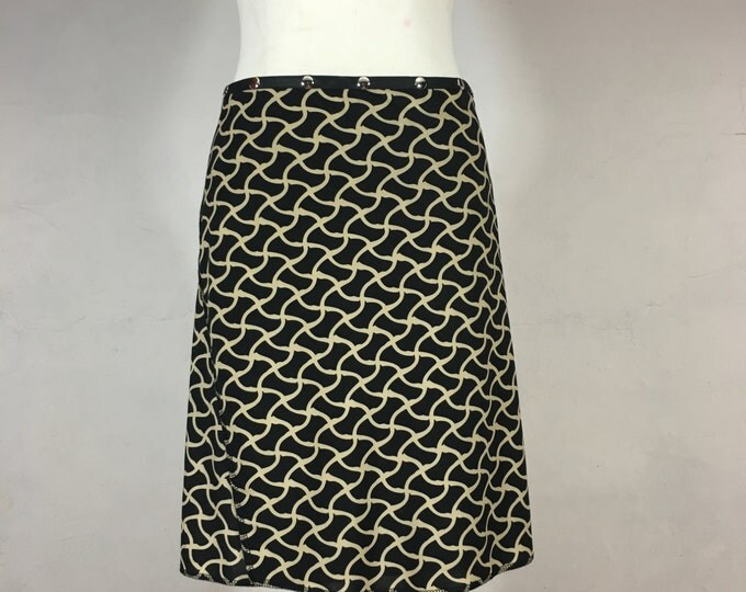 Snap Around Skirt, Black Weave Classic by Erin MacLeod