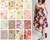 Custom Strapless Dress with Pockets - Mix and Match Large Floral Country Cottage Bridesmaid Dresses