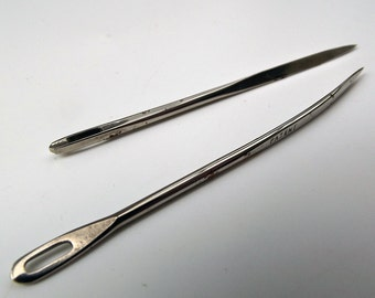 Vintage Pair of Hand Tufting Needles for Sewing