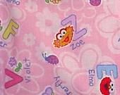 Elmo and Zoe Alphabet Cotton Fat Quarter FQ Fabric Piece 100% cotton