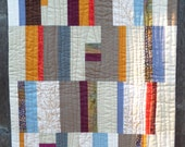 Autumn Modern Art Quilt, Wall Hanging, 18 x 22 inches