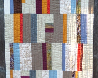 NEW Autumn Modern Art Quilt, Wall Hanging, 18 x 22 inches