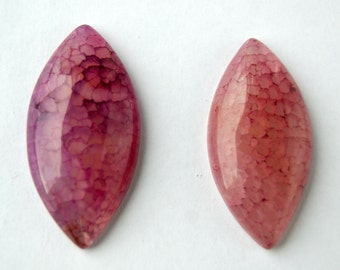 Pair of Dragon Veins Agate Cabochons (6131)