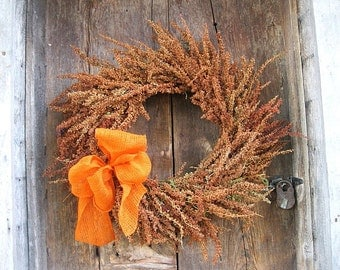 DOCK  WREATH    Natural DRIED Flower for autumn