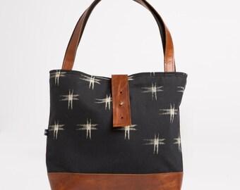 CLEARANCE! Ann Shoulder Bag in Kasuri Print