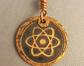 Copper Atom Pendant