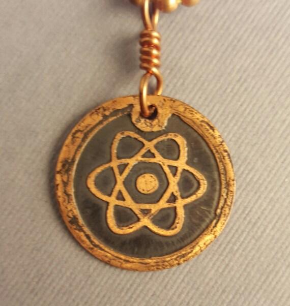 Copper Atom Pendant