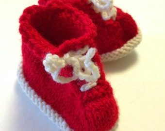 Red and White Tennis Booties