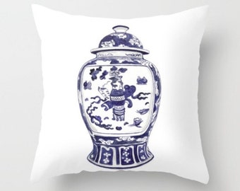 GINGER JAR No. 2  PILLOW 4 sizes - 3 colors (indoor and outdoor fabrics)