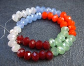 Czech Rondelle Crystal Beads - 6MM x 4MM - One Strand