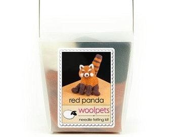 Red Panda Needle Felting Kit
