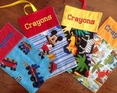 Crayon Roll Up Sample Set Train Mickey jungle animal dinosaur
