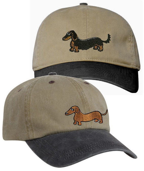 Embroidered Dachshund Ball Caps Smooth Longhair and Wirehair