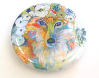 Fox Button, 1.25 in, by Jenlo