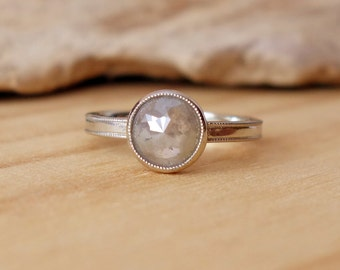 Rose Cut Diamond Milgrain Ring - Deposit