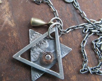 Star of David Necklace Silver Jewish Star Pendant Hanukah Gift Bat Mitzvah Gift Judaica Jewish Jewelry Star Necklace Religious Jewelry