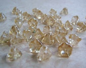 Crystal Champagne Flower Beads Czech Glass Two Sizes 20 Beads