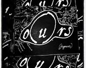o(u)rs - 40 page quarter size b&w art/prose zine