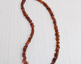 Petite Amber chip beads