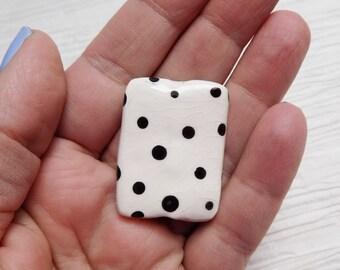 Ceramic rectangular pendant