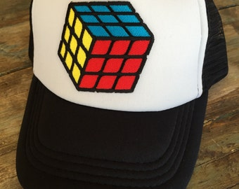 YOUTH or TODDLER Boys/Girls RUBIX Cube Trucker Hat Baseball Cap Snap Back