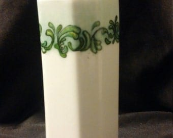 Hand painted Porcelain Vase, Pencil Cup or Make up Brush holder