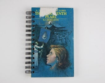 Nancy Drew and the Thirteenth Pearl - Recycled Book Journal -blank journal made from a recycled vintage book by Rebound Designs