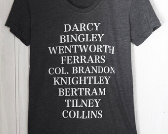 Jane's Men - Women's T-shirt - characters from Jane Austen's novels - S, M, L, XL