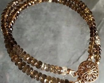 Reserved - Cognac quartz bracelet
