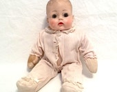 Sweet Madame Alexander Huggums Baby Doll Vintage 1960s Soft Body Doll With Original Onesie