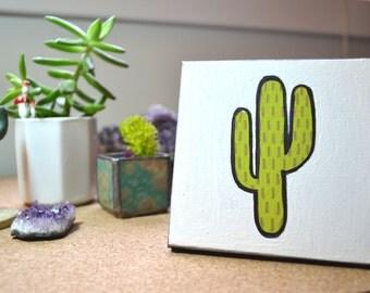 Teeny Cactus - Original Acrylic Painting