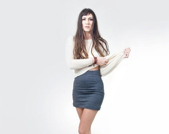 High Waisted Mini Skirt • Women's Skirts • Black Grey Brown • Tall Length • Loft 415 Clothing (No. 11)