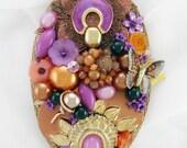 Half Off Sale Hand Mirror - Repurposed Jewelry - Celebrate Spring! - M001039