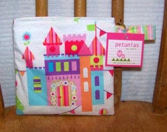 Reusable Little Snack Bag - pouch adults kids castle eco friendly by PETUNIAS